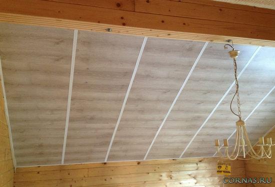 Ламинат на потолок: как правильно это делается?