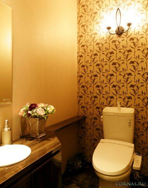Обои для туалета - какие выбрать