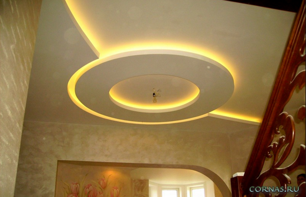 Освещение потолка: 20 фото
