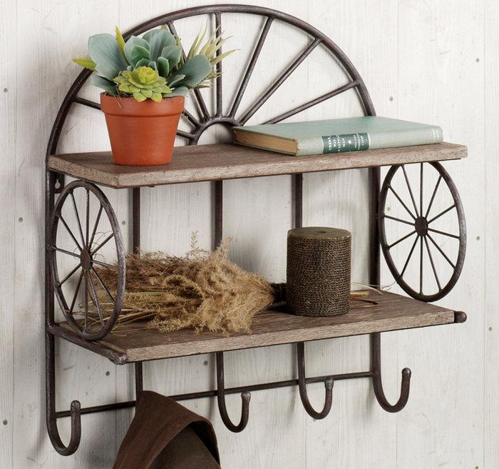 Кованые полки для цветов, книг и обуви
