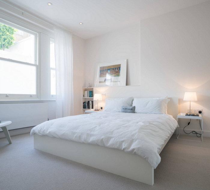 Спальня в светлых тонах: 30 фото