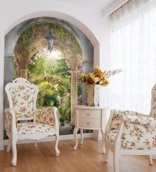 Фрески в интерьере: роскошная эстетика