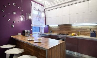 Кухня гостиная с барной стойкой фото 6
