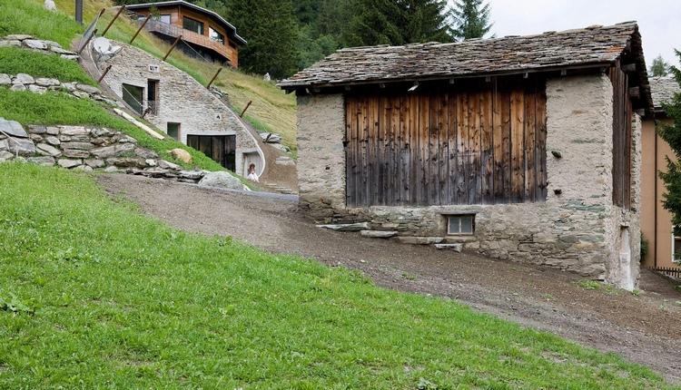 Вилла Vals в альпийском склоне