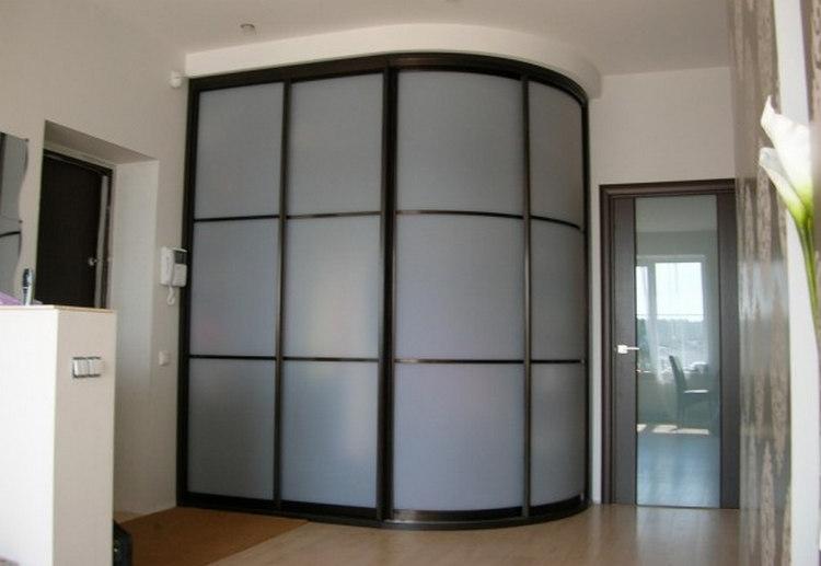 Встроенный шкаф купе в прихожую - фото ТОП
