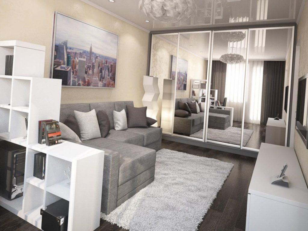 Дизайн однокомнатной квартиры - 160 фото дизайна интерьера