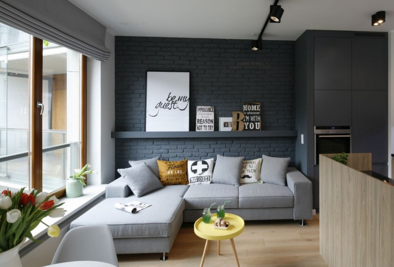 Дизайн стен в гостиной - 110 фото интересных идей