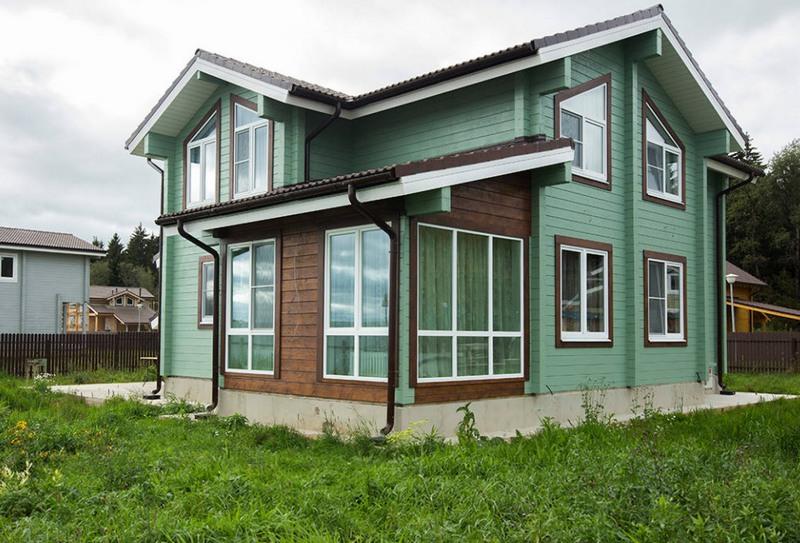 Дом из бруса с мансардой фото
