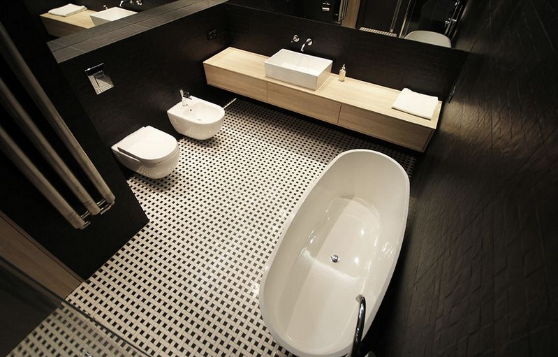Мозаика в интерьере ванной комнаты фото 100+
