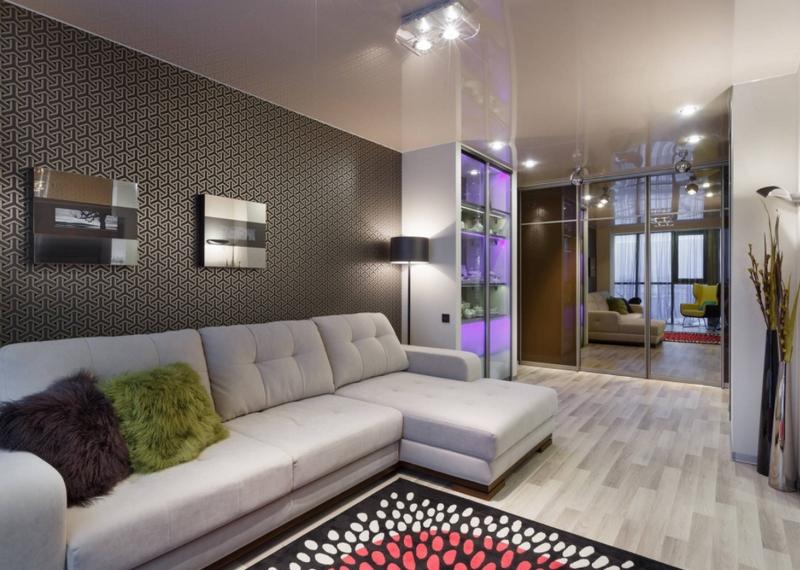 Оформление стен в гостиной - 115 фото новых идей