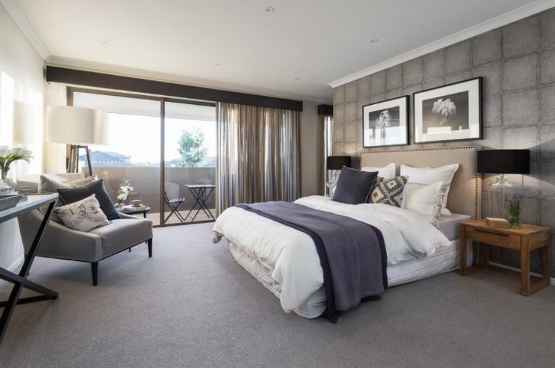 Серая спальня - 120 фото свежего дизайна