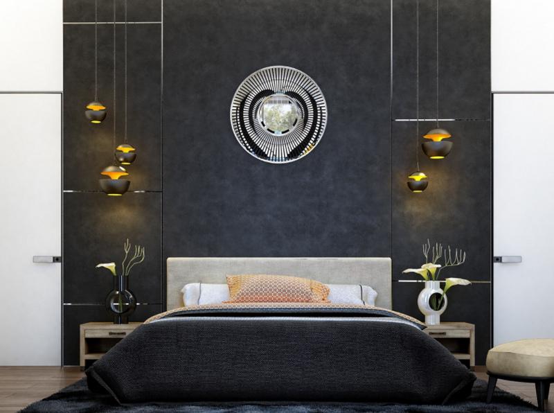 Черная спальня - идеи оформления дизайна интерьера [130 фото]