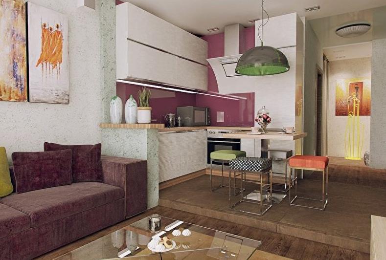 Кухня гостиная в скандинавском стиле - фото модного дизайна