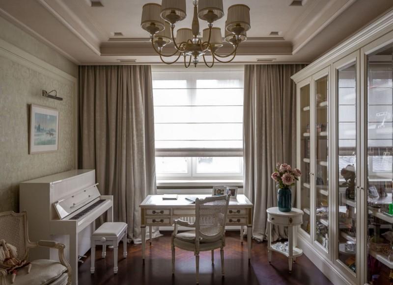 Потолочные шторы - 100 фото декора для окон