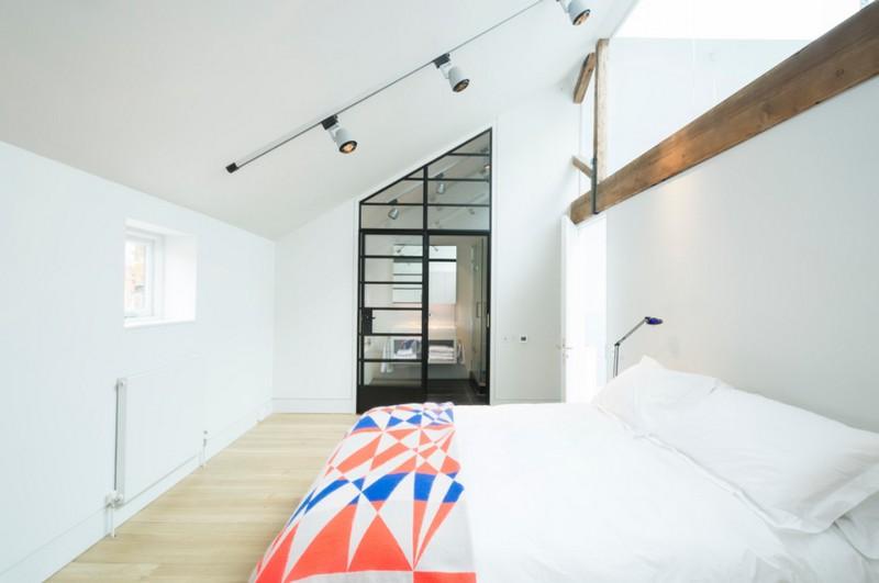 Спальня в стиле лофт - фото коллекция индустриального интерьера