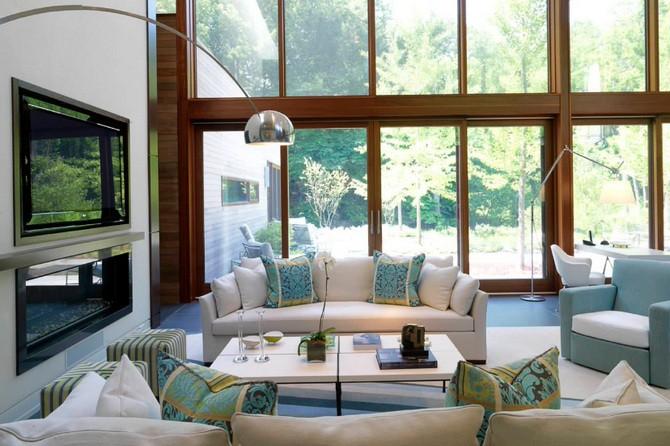 Дизайн гостиной: фото коллекции 2019