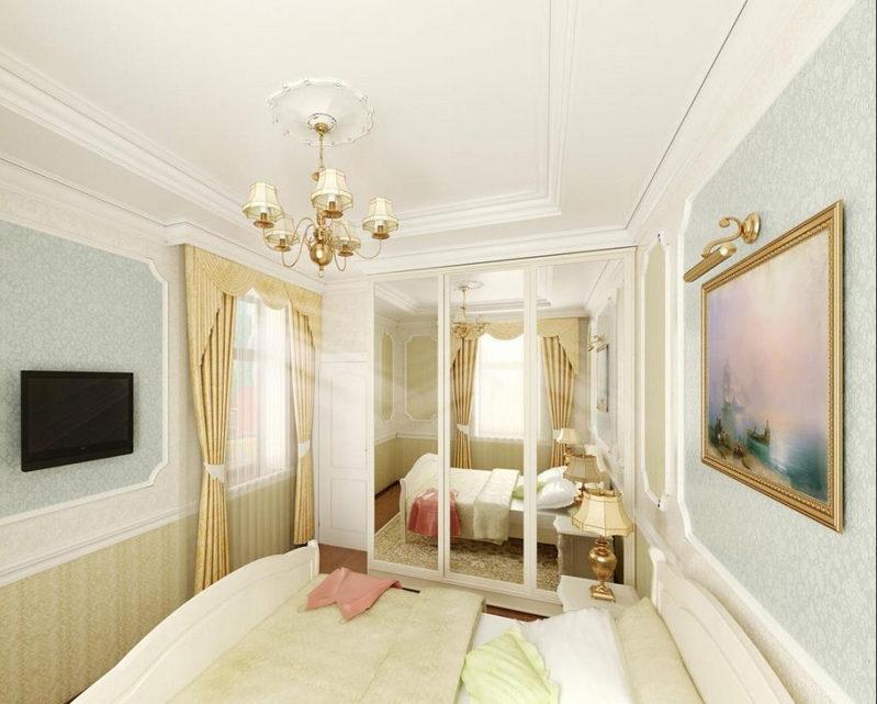 Дизайн узких спален фото