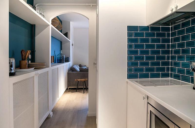 Светлая минималистичная квартира-студия в Париже 18 кв.м.