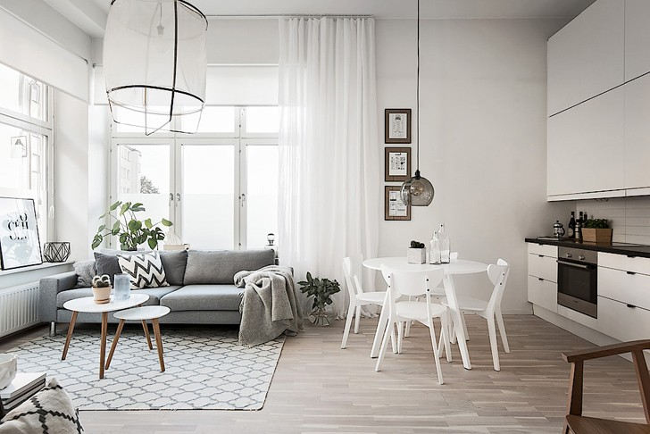 Домашний и душевный скандинавский интерьер (54 кв. м)
