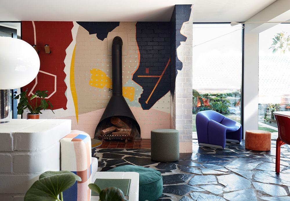 Веселый дизайн в доме в Сиднее