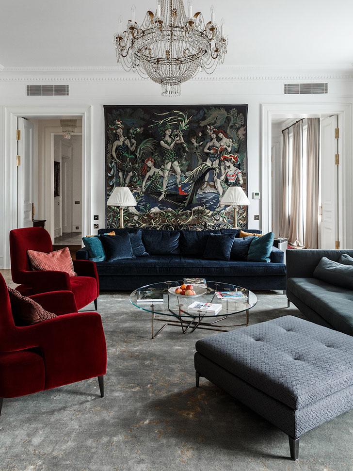 Изысканная классика в квартире в 100-летнем доме в Москве