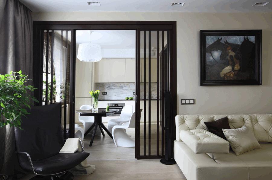 Раздвижные перегородки в интерьере - технологичное решение для дома!
