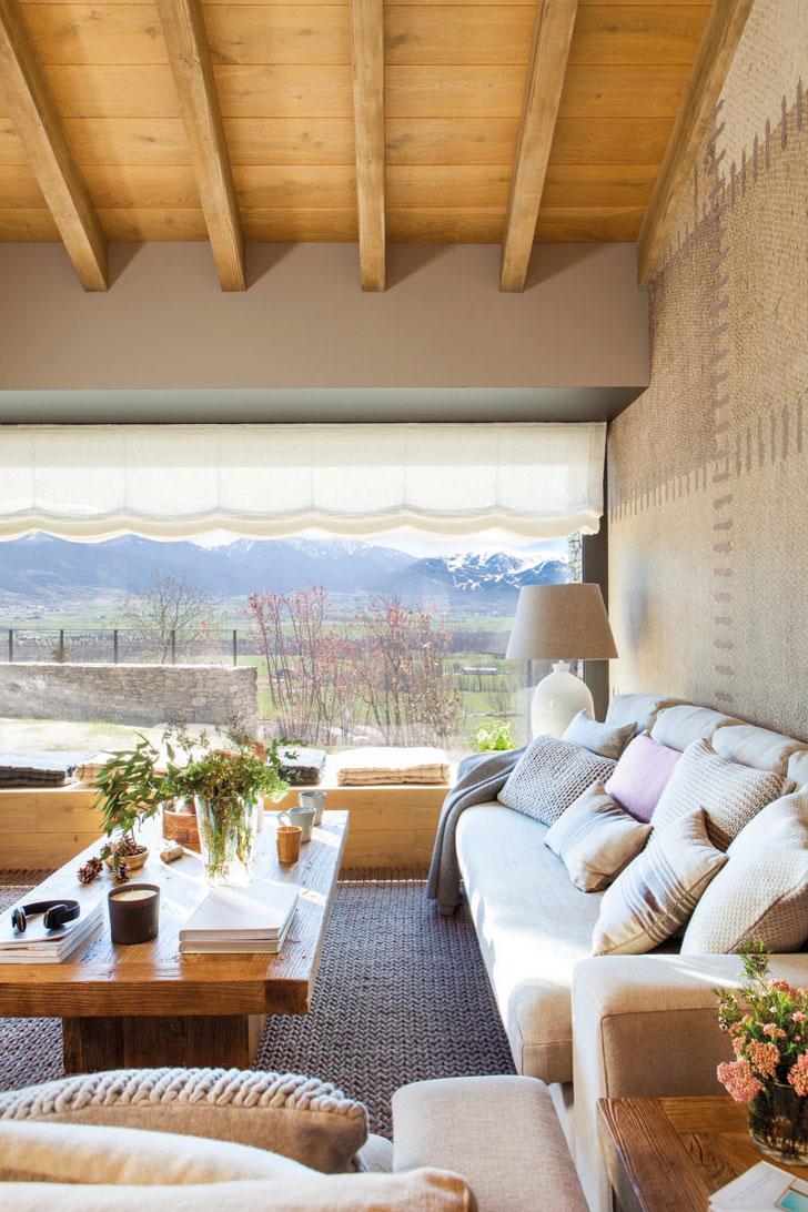 Природа на большом экране: современный дом мечты в горах