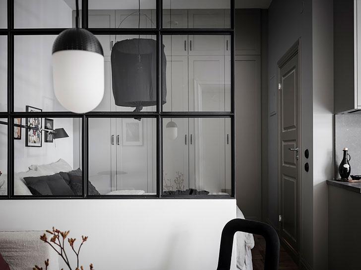 Функциональная квартира 34 кв.м со стеклянной перегородкой