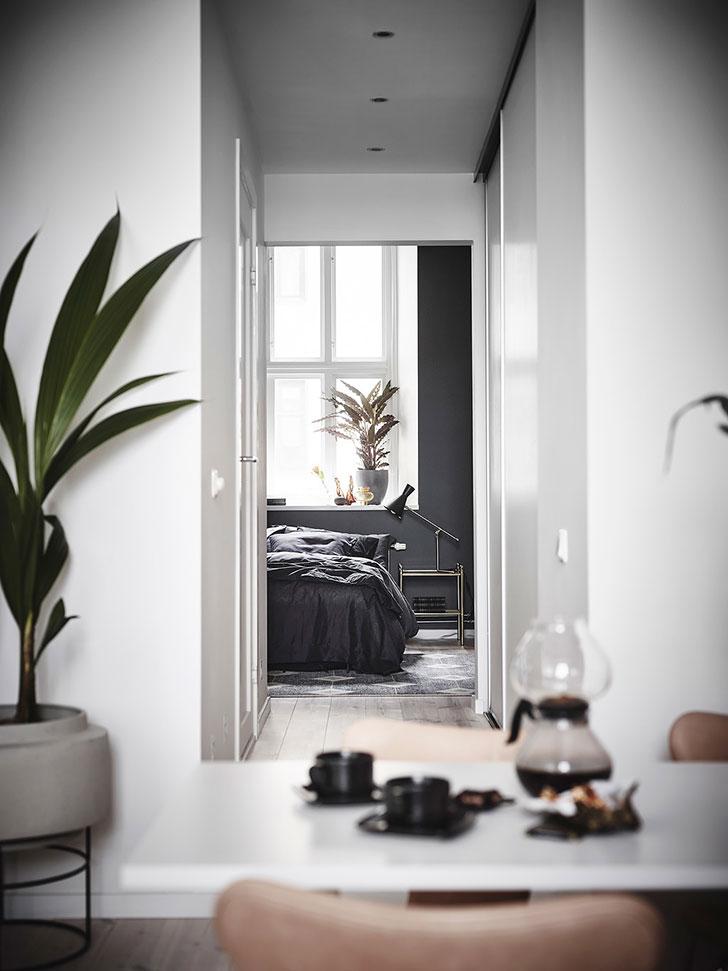 Небольшая но стильная квартира в Гетеборге (47 кв. м)