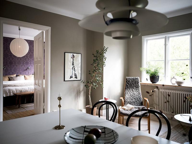 Светлая 2-х этажная квартира с мансардной в Гётеборге